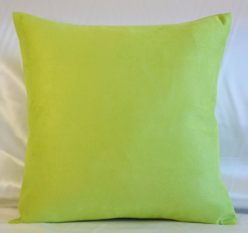 Creative Luxury Faux Suede Pillow Cover / Euro Sham - 26 By 26 Lime