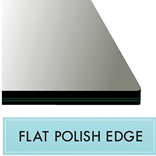18'' X 36'' Rectangle Clear Glass Table Top 1/2'' Thick with Flat Polished Edge and Touch Corners by Spancraft