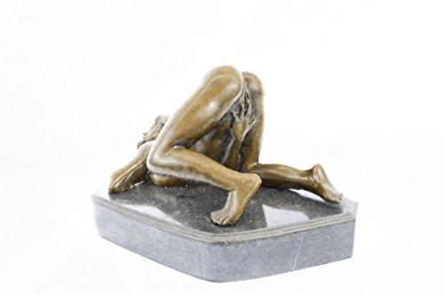 Handmade European Bronze Sculpture Originaloliviono Marble Figurine Nude Girl Deco -9440