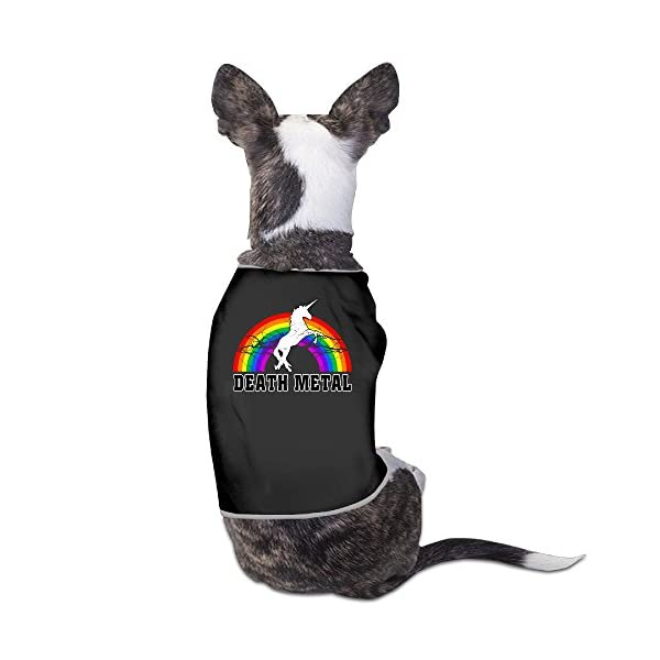 whatnumberisp Doggie Clothes - Death Metal Unicorn Rainbow Doggie T Shirts 3
