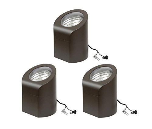 - 3 Pack Malibu Lighting 8608-0506-03 50W Low Voltage Above Ground Industrial Flood Light - Aged Brass BY MALIBU DISTRIBUTION