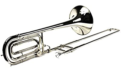 Brand New Bb/F Bass Trombone w/ Case and Mouthpiece- Nickel Plated Finish