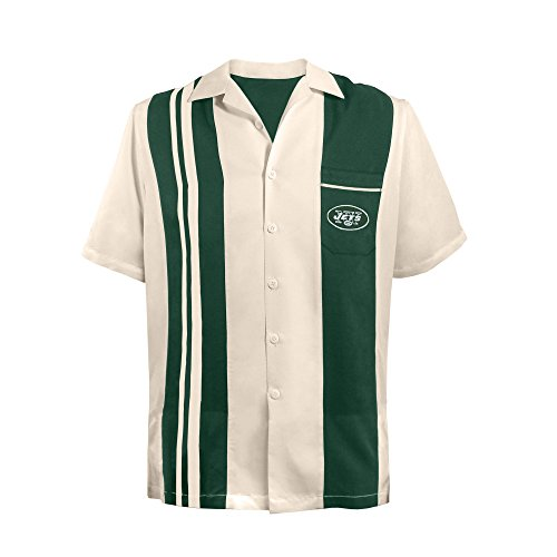 NFL New York Jets Unisex NFL Bowling Shirt Spare, Large, Green