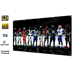 Projector Screen – 16:9 HD Projector Screen – Portable & Foldable Projector Movie Screen The Indoors & Outdoors – Easy to Use Home Theater Screen – Double Sided Projection – Lightweight Material