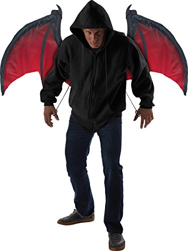 California Costumes Men's Bloodnight Wings, Red/Black, One (Halloween Wings)