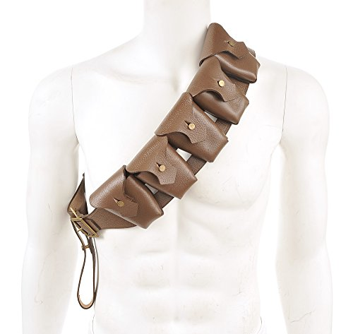 Five Pattern - British P-1903 Leather Five Pocket Bandolier Pattern 1903