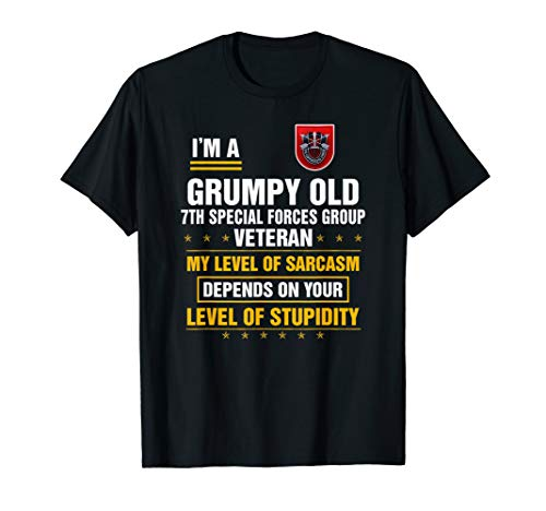 I'm a Grumpy Old 7th Special Forces Group Veteran T-Shirt
