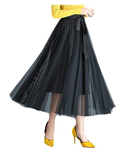 e08fa80cfc YSJERA Lady's Organza Princess Skirt Bowknot A Line Pleated Midi/Knee  Length Tutu Party Skirts - Buy Online in UAE. | Apparel Products in the UAE  - See ...
