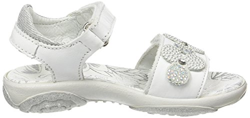 Ouvert Sandales PBR Blanc Fille 7595 Bianco Argento Bout Primigi RqPIxSx