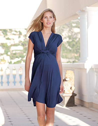 Seraphine Womens Casual A-line Maternity Dress in Navy 8