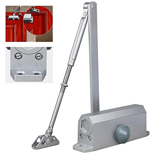 Door Closer Aluminum Commercial New Control Silver Two Independent Valves - Fix How Glasses Arm To