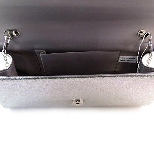 Lily De 'Kika' Pochette Trésors gris P9978 5 25x12x5 cm argenté Les pgE5BwqE