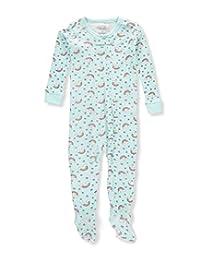Rene Rofe Baby Girls' 1-Piece Footed Pajamas