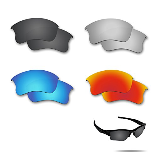 Fiskr Polarized Replacement Lenses for Oakley Flak Jacket XLJ Sunglasses 4 Pairs - Flak Lenses Oakley Golf Jackets