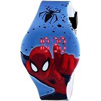 Marvel Ultimate Spider-Man Kids 'spd3446pantalla digital cuarzo analógico reloj azul