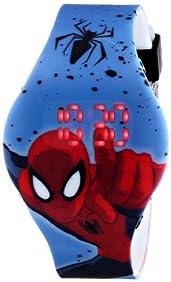 Marvel Ultimate Spider-Man  Kids' SPD3446 Digital Display Analog Quartz Blue Watch
