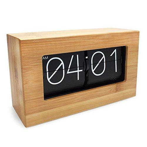 retro auto flip modern desk wall clock