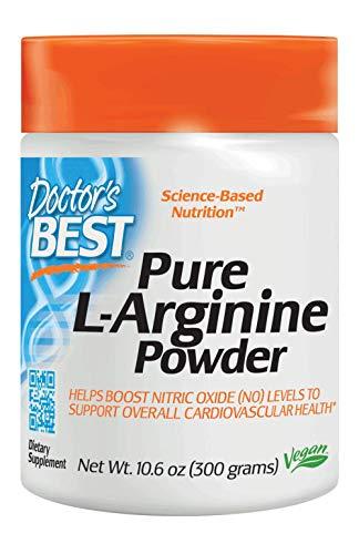 Doctor's Best L-Arginine Powder, Non-GMO, Vegan, Gluten Free, Soy Free, Helps Promote Muscle Growth, 300 - Release Sustained L-arginine