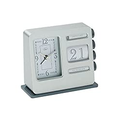 Chass Desk Accents Bank Calendar Alarm Clock 81221