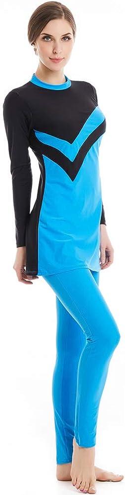 TianMai Hei/ße Neue Muslimische Bademode Islamischen Full Cover Frauen Kurzarm bescheidene Badeanzug Beachwear Burkini Lady Rash Schutz Surfen Anzug Kost/üm