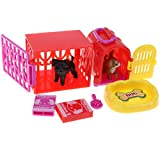 D DOLITY Pretend Play Toy Set, Kids Pet Store Play Set with Puppy Cat Supplies and Accessory, Kids