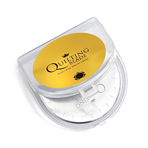 Quilting Blade, 45mm Rotary Cutter Blades, (5 pack) by Quilting Blade