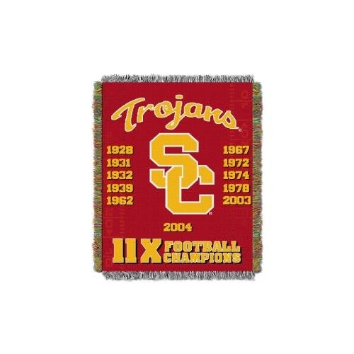 Basketball Collegiate Pacific (The Northwest Company Officially Licensed NCAA USC Trojans Commemorative Woven Tapestry Throw Blanket, 48