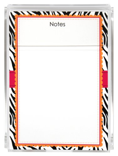(Ultra Chic Zebra Memo Sheets and Acrylic Holder, 150 Note Papers, 5