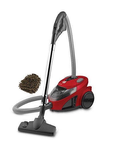 Dirt Devil SD40010 Filter Canister Vacuum Cleaner, Ez Lite Corded Bagless (Complete Set) w/ Bonus: Premium Microfiber Cleaner Bundle