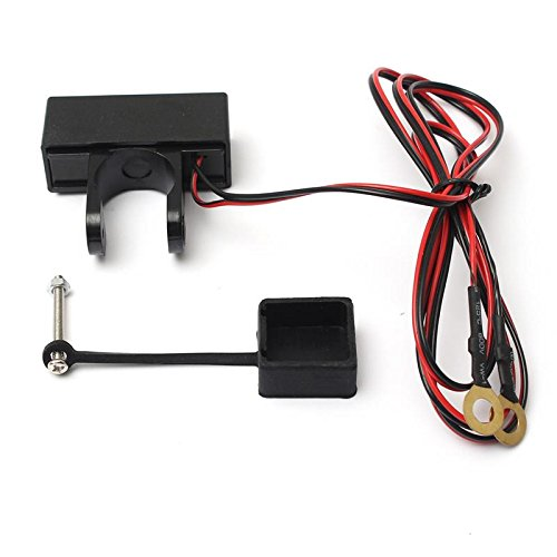 Sports Imports SIL-HBUSB-1 Waterproof Motorcycle Handlebar Mount Phone iPhone Samsung USB Power Port charger, 12V