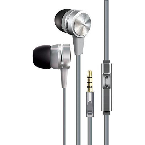 COBY in-Ear,Metal,Mic, Silver