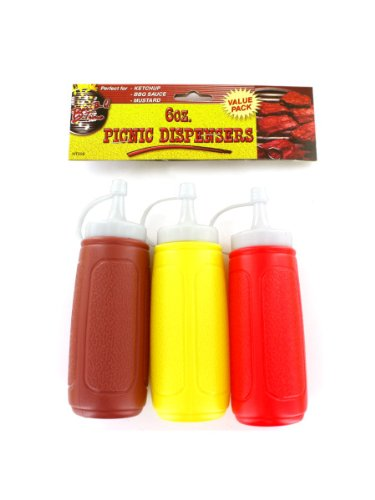 Picnic condiment dispensers, Case of 36 by Bar-B-Q Time (Image #1)