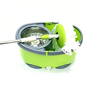Flexy Easy Wring Magic Cleaning 360 spin Mop Set - Green