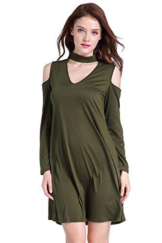 La mujer túnica frío hombro arriba T-shirt Vestido de swing con bolsillos 2017 verano vestidos vestimenta casual Rockabilly Feminino vestidos Gris
