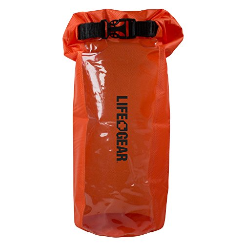 Life Gear Waterproof Dry Bag with Clear Viewing Window, 2.5 L, Orange,