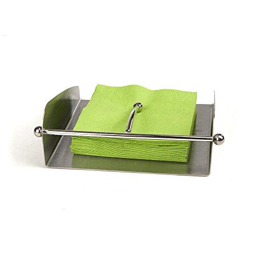 Silver Napkin Holder Sterling - Mind Reader Napkin Holder, Square, Stainless Steel