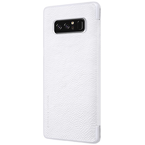 Samsung Galaxy Note 8 Case ,Samsung Galaxy Note 8 Synthetic Leather Case ,Opdenk- Nillkin Qin Ultra Thin Card Slot Smart Case Flip Leather Case Cover For Samsung Galaxy Note 8 (White) by OPdenk (Image #4)