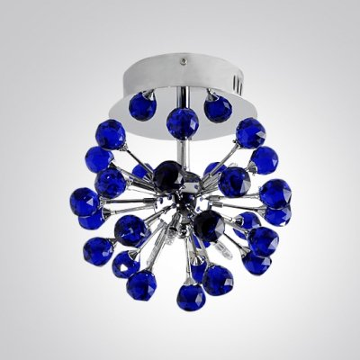 QIANG Striking Ceiling Fixture Bursts with Stylish Design Adorned with Distinctive Purple Crystals (Burst Purple Design)