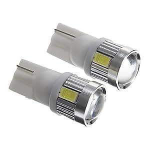 KLM 3.5w t10 6x5730 SMD luz blanca 200-230ml bombillas led para alumbrado de la placa del carnet de conducir (dc12v 2pcs)