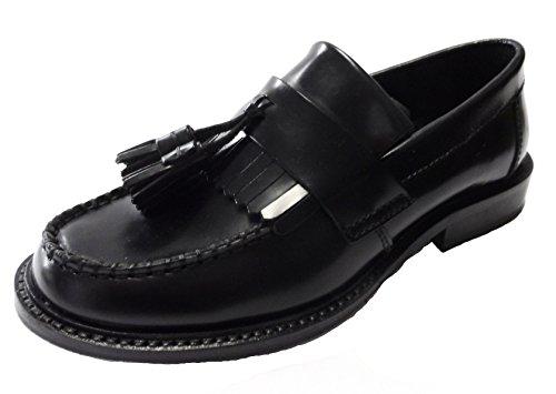 Ikon Men's Selecta Tab Slip On Loafer Black Ksle0