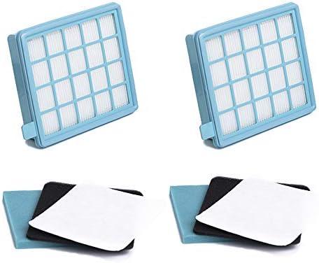 Green Label Pack de 2 Kit de Filtros para Aspiradoras Philips PowerPro Active y Compact. Reemplaza a FC8058,01: Amazon.es: Hogar