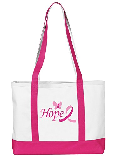 Prestige medical Large Tote Bag Hope Pink Ribbon & Butterfly Model: 705 (Stethoscope Pink Ribbon)