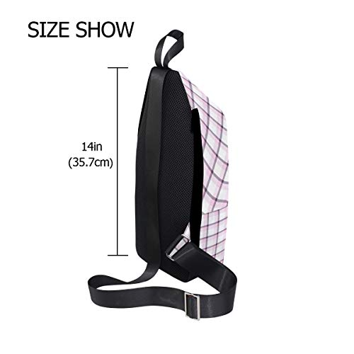 Shoulder Bag Bags For Chest One amp; Men Crossbody Backpack Women Sling Lattice Bennigiry XC0qSS