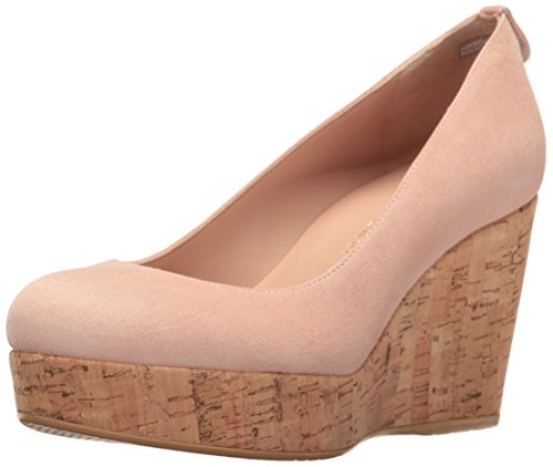 Stuart Weitzman Women's York Wedge Pump, Rose, 9.5 M US