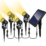 Otdair Solar Spotlights Outdoor, Led Solar Powered