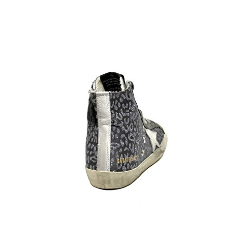 The Golden Goose Golden Goose Kvinners Joggesko Francy Glitter Leopard-hvit Stjerne G32ws591.b16