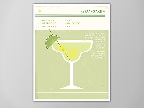 Margarita Cocktail Print, Retro Food and Drink Poster, Vintage Style Cocktail Art, Mid Century Modern Design Poster, Margarita Art Print