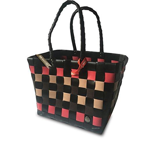 ICE-BAG loopbag  5010-10 inch barzelletta Gall classico spartronic, borsa per la spesa barzelletta - Nero Gall, marrone, rosso