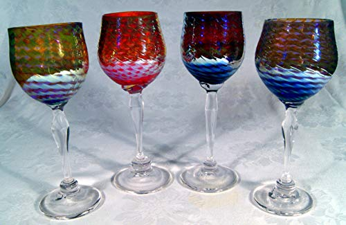 Eye Catching Gold Luster Optic Goblets ()