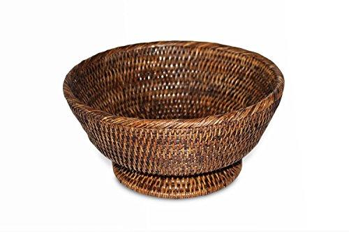 Saffron Trading Company Round Pedestal Basket - Antique ()